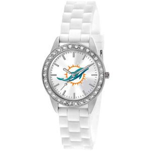 Miami Dolphins Game Time Pro Womens Frost Watch