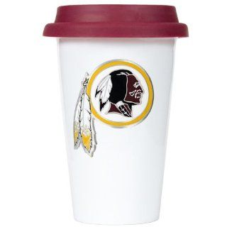 BSS   Washington Redskins NFL 12oz Double Wall Tumbler with Silicone Lid