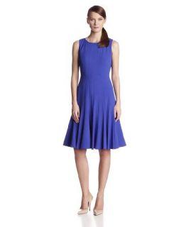 Calvin Klein Women's Sleeveless Solid Swing Dress
