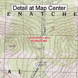 USGS Topographic Quadrangle Map   Enchantment Lakes, Washington (Folded/Waterproof)  Outdoor Recreation Topographic Maps  Sports & Outdoors