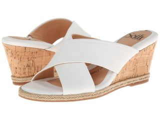 Sofft Idola Womens Wedge Shoes (White)