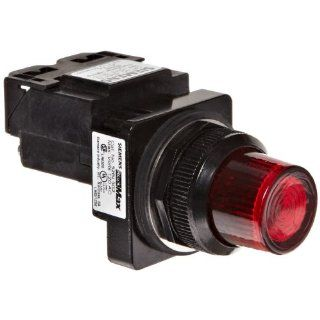 Siemens 52BL5G2 Heavy Duty Pilot Indicator Light, Water and Oil Tight, Glass Lens, Transformer, 755 Type Lamp or 6V LED, Red, 120VAC Voltage Industrial & Scientific
