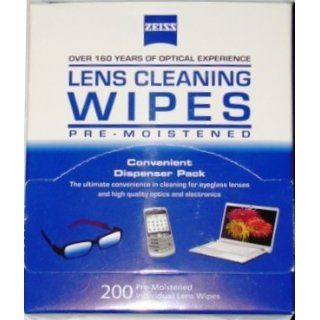 Zeiss Pre Moistened Lens Cloths Wipes 200 Ct Health & Personal Care