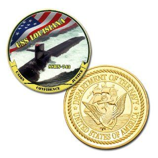 US Navy USS LOUISIANA SSBN 743 GP printed Challenge coin