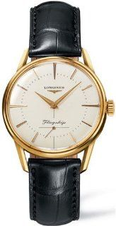 Longines Flagship 18k Solid Gold Mens Watch   L4.746.6.72.0 at  Men's Watch store.