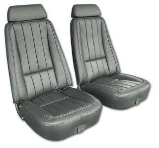 West Coast Corvettes   Corvette Leather Seat Covers. Gunmetal   A3418963DS: Automotive