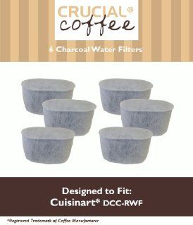 6 Cuisinart DCC RWF Charcoal Water Filters; Fits All Cuisinart Coffee Makers With Charcoal Water Filtration System; Designed & Engineered by Crucial Coffee Kitchen & Dining