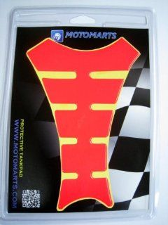 Moto 777 TP62 Bright Red Orange Vinyl Tank Pad Protector: Automotive