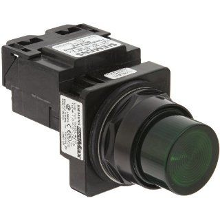 Siemens 52BL4J3 Heavy Duty Pilot Indicator Light, Water and Oil Tight, Plastic Lens, Transformer, 755 Type Lamp or 6V LED, Green, 480VAC Voltage Industrial & Scientific