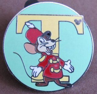 "Disney DUMBO ""T"" For TIMOTHY Q. MOUSE COLLECTOR PIN Alphabet Set HIDDEN MICKEY (2009)"