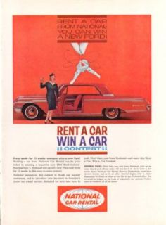 Ford Galaxie 500 National Car Rental Contest ad 1962 Entertainment Collectibles