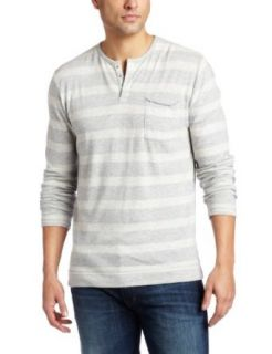 Joe's Jeans Men's Mccarther Long Sleeve Henley Shirt, Grey/Natural, Large at  Men�s Clothing store