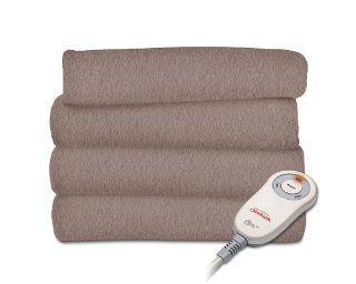 Sunbeam TSF8US R772 31A00 Fleece Heated Throw, Mushroom   Throw Blankets
