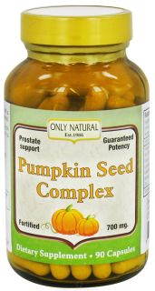Only Natural   Pumpkin Seed Complex 700 mg.   90 Capsules