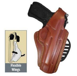 Gould & Goodrich 807 G17 Paddle Holster, Chestnut, Right Hand   Glock  Gun Holsters  Sports & Outdoors