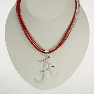 Alabama Crimson Tide Mulit cord Logo Necklace : Sports & Outdoors