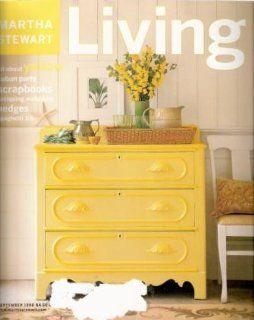 Martha Stewart Living Magazine September 1998 Yellow Cuban Party Martha Stewart Books