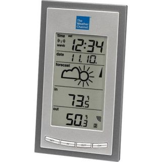 The Weather Channel Atomic Clock and Wireless Weather Forecast Station WS 9077TWC IT CBP   Weather Stations