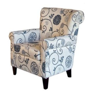 ... Grey Floral Club Chair Upholstered Club Chairs ...