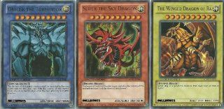 YuGiOh Legendary Collection Ultra Rare God Card Set of 3 Egyptian God Cards Slifer, Obelisk Ra (LIMITED EDITION) ULTRA RARE Version: Toys & Games