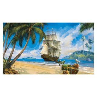 RoomMates Pirate Chair Rail Mural   Kids and Nursery Wall Art