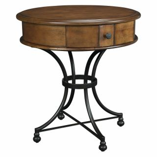 Hammary Siena Round Storage End Table   End Tables