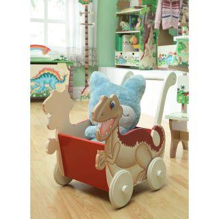 Fantasy Fields Dinosaur Kingdom Childrens Toy Push Cart   Toy Storage