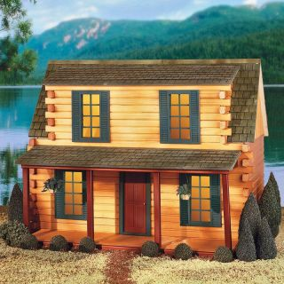 Real Good Toys Finished Adirondack Log Cabin Dollhouse   Collector Dollhouse Kits