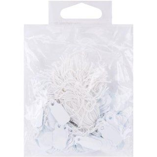 """Small Jewelry Hang Tags .25""""x.75"""" 200/Pkg White   Blank Labeling Tags"""