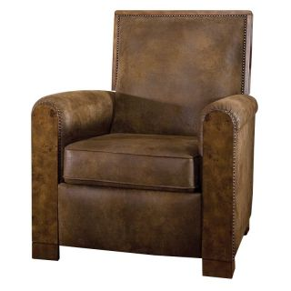 Uttermost Consuelo Pushback Recliner   Leather Club Chairs