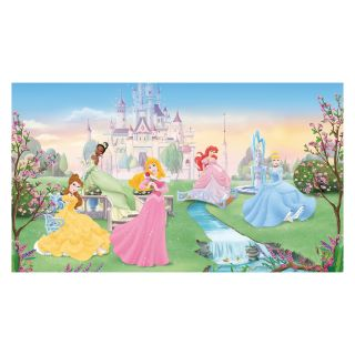 RoomMates Dancing Princess Chair Rail Mural   Kids and Nursery Wall Art