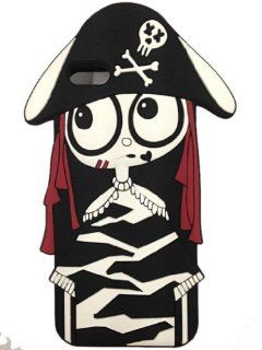 FJX New 3D Cartoon Pirate Woman ugly baby Soft Silicone Case Cover for Apple Iphone 5/5G/5th (Red Hair): Cell Phones & Accessories