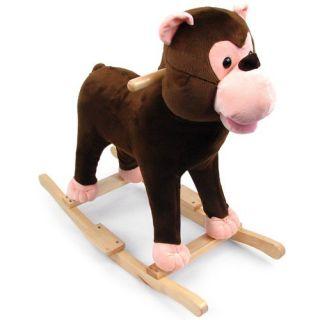 Happy Trails Plush Monkey Rocking Animal   Rocking Animals