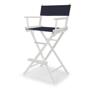 Celebrity II 29.5 in. Navy Canvas Directors Chair   White Frame   Directors Chairs