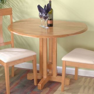 Jofran Honey Oak Round Table and 2 Chairs   Dining Table Sets
