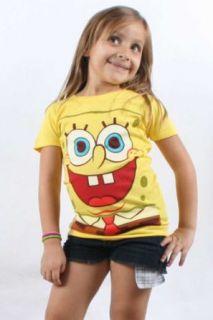 Spongebob Squarepants   Girls Big Face T shirt in Yellow, Size X Large, Color Yellow Clothing