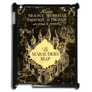 Hogwarts Marauder's Map Harry Potter Movie Series Design Black Hard Case for Ipad 2/3/4: Computers & Accessories
