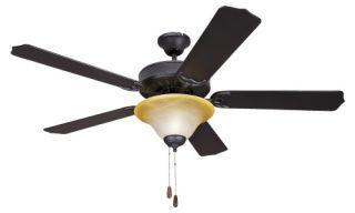 Yosemite Home Decor 5BD52VB+LK106 Builder 52 in. Indoor Ceiling Fan with Light Kit   Venetian Bronze   Ceiling Fans