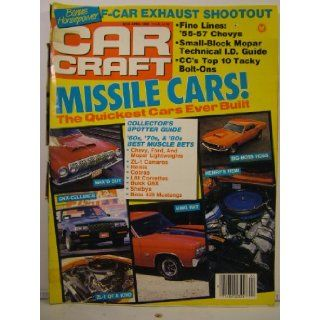 Car Craft Magazine April 1989 Missile Cars, 1955 to 1957 Chevys various Books