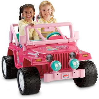 Fisher Price Power Wheels Barbie Jeep Battery Powered Riding Toy   Battery Powered Riding Toys