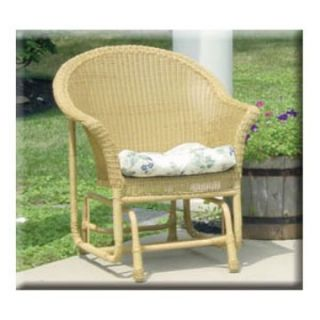Darby Resin Wicker Single Outdoor Glider   Wicker Chairs & Seating