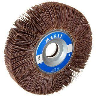 "Merit Type K Sof Tutch Grind O Flex Abrasive Flap Wheel, 1"" Arbor, Round Hole, Ceramic Aluminum Oxide, 6"" Dia., 1"" Face Width, Grit 320, 6000 Max RPM (Pack of 1): Industrial & Scientific"