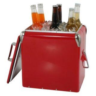 AmeriHome 12 qt. Retro Style Picnic Cooler   Coolers