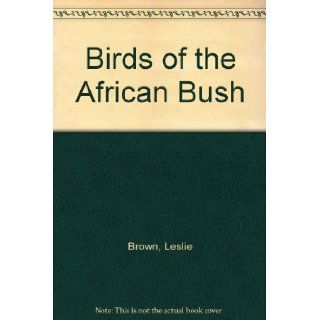 Birds of the African bush: Rena Fennessy: 9780002160698: Books
