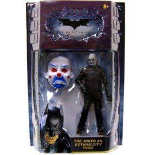 Batman Dark Knight Movie Master Exclusive Deluxe Action Figure Joker as Gotham City Thug: Toys & Games