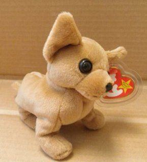 TY Beanie Babies Tiny the Chihuahua Dog Stuffed Animal Plush Toy   6 inches long Toys & Games