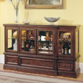 Parker House Stratford 2 Piece Display Credenza Top & Base   Dining Accent Furniture