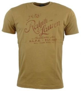 Polo Ralph Lauren Mens Classic Fit Logo T Shirt   XXL   Tan at  Men�s Clothing store