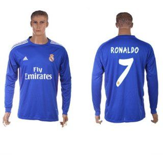 Long Sleeve Real Madrid Away Ronaldo #7 Soccer Jersey football shirt 2013 14 (Large US) : Sports & Outdoors