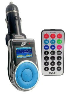 GSI Super Quality In Car Wireless Hands Free FM Modulator Transmitter for /MP4/iPod/iPhone/CD/DVD Players   SD/Memory Card/Flash Slot   Line In Function   LCD Display   Cigarette Lighter Plug   Includes Remote Control   Blue   Players & Accessor
